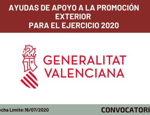 Ayudas a la Internacionalización para el Ejercicio 2020